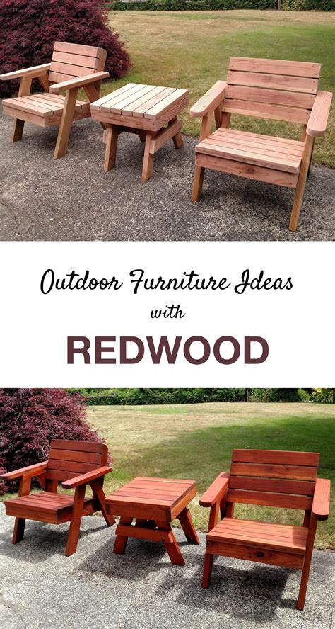 outdoor living diy furniture redwood outdoor chairs