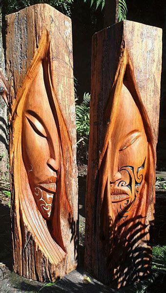 joe kemp maori carver  wood sculptor wood carving art