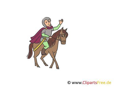 ritter auf dem pferd illustration clipart bild