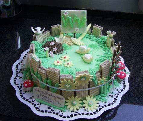 Garten Motiv Torte @>>