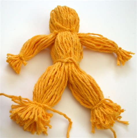 yarn doll  steps  pictures wikihow