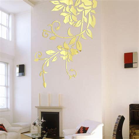 140 81cm diy acrylic mirror wall stickers home decor wall decals decoration mirror defoliation