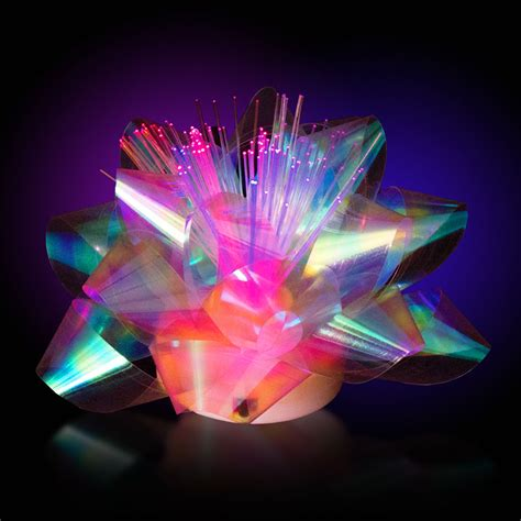 led light up presents gearxs 5 pack fiber optic led light up glowing gift bows
