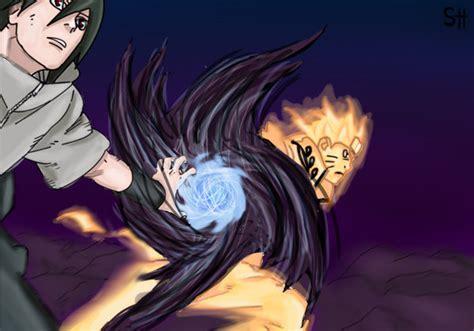 Naruto And Sasuke Manga 641 Color By Sandradibujante On