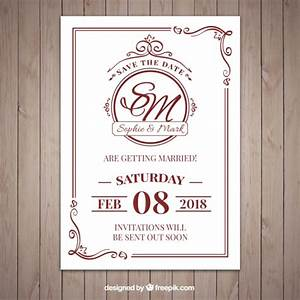 nice classic style wedding invitation vector free download With wedding invitations templates freepik