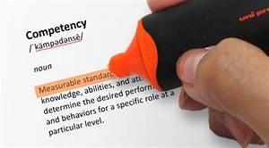 Using Bloom's... Competency Definition