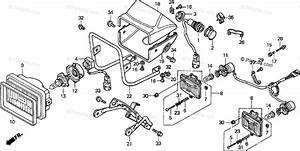 Honda Atv 2000 Oem Parts Diagram For Headlight