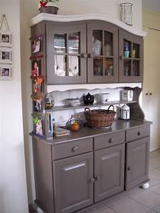 Peindre Un Meuble Ancien En Blanc : vaisselier a peindre ~ Dailycaller-alerts.com Idées de Décoration