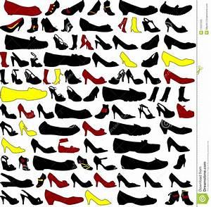 Schuhschränke Für Viele Schuhe : viele schattenbilder der schuhe lizenzfreie stockbilder bild 13037509 ~ Markanthonyermac.com Haus und Dekorationen