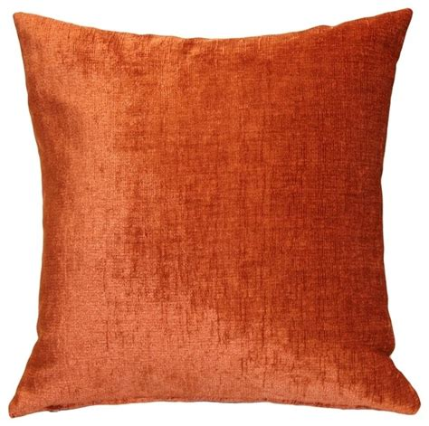 pillow decor venetian velvet earthen orange throw pillow
