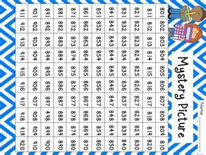 Tens And Ones Chart Mystery Picture Hundreds Chart Place Value Car By