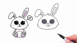 How to Draw a Cute Bunny Rabbit Easy - YouTube