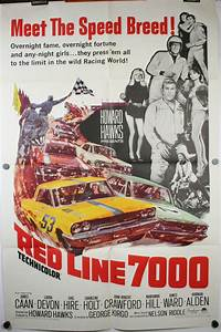 RED LINE 7000, Original Car Racing Hot Rod Movie Theater ...