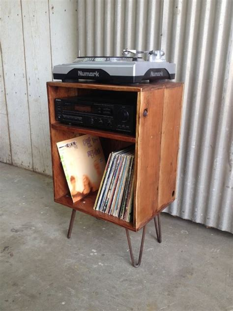 record cabinet record player stand and lp storage on