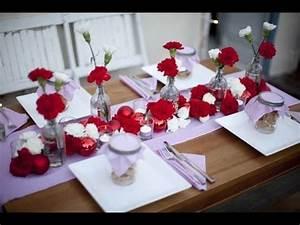 Décoration Mariage Rouge Et Blanc : deco de table mariage rouge et blanc mariage toulouse ~ Melissatoandfro.com Idées de Décoration