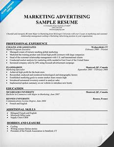 Marketing advertising resume template resume samples for Advertising resume templates