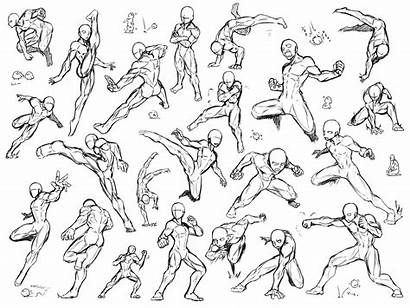 Drawing Poses Action Reference Pose Fighting Sketch
