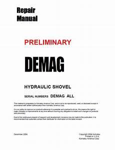Komatsu Preliminary Demag Hydraulic Shovel Manual Pdf
