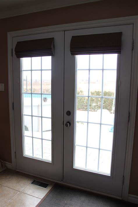 Roman Shade For French Door  Window Treatments Design Ideas