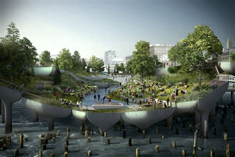 city park water and light installation is here at heatherwick reveals the inspiration pier 55 Inspirational