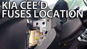 Where Are Fuses And Relays In Kia Cee U0026 39 D  How To Find Location
