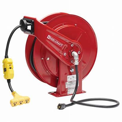 Reel Cord Power Gfci Reelcraft Outlet Ft
