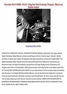 Honda Rvt1000r Rc51 Digital Workshop Repair M By