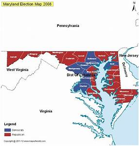 Maryland Election Results 2016 - Map, County Results, Live ...