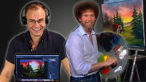 An Animator Re-creates A Bob Ross Painting In Photoshop