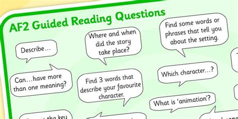 twinkl resources gt gt af2 guided reading question mat