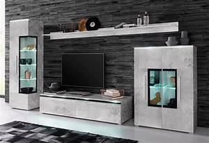 Möbel In Betonoptik : 33 sparen 5 teilige wohnwand nur 399 99 cherry m bel otto ~ Frokenaadalensverden.com Haus und Dekorationen