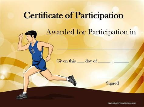 running certificate templates  customizable