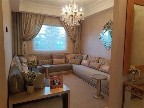 salon marocain gris beige interieur sur mesure salon