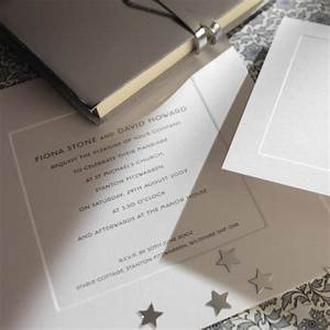 silver thermography wedding invite with plate sunk border With thermography wedding invitations uk