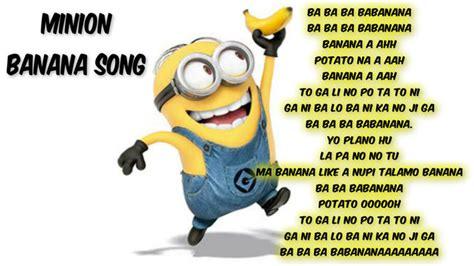 Minions Banana Song Lyrics