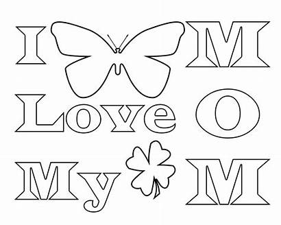 Coloring Pages Mom Mommy Mother Printable Template