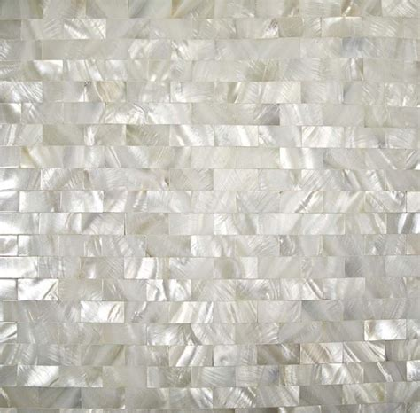 of pearl tile backsplash kitchen seamless shell