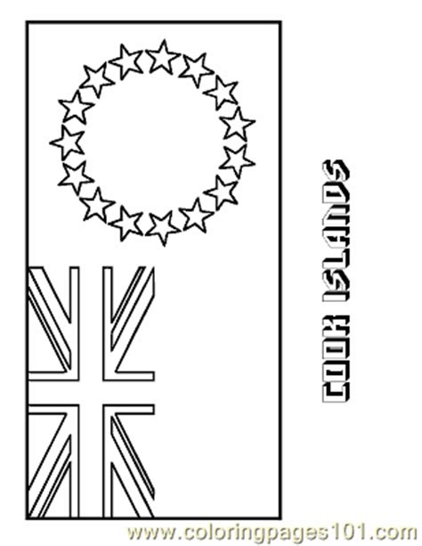 cook island flag template cook islands coloring page free flags coloring pages