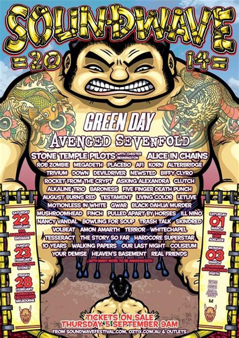 Melbourne Line Up by Soundwave 2014 The Line Up Is Here 969