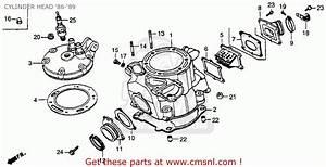 Honda Cr250r 1986 Usa Cylinder Head  U0026 39 86- U0026 39 89