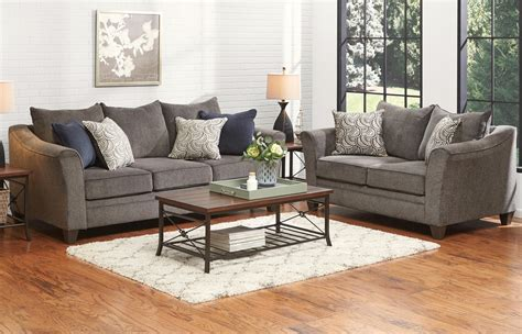 Pewter Living Room : Albany Collection Pewter Living Room Set