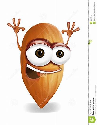 Cartoon Almond Laughing Happy Character Nut Funny