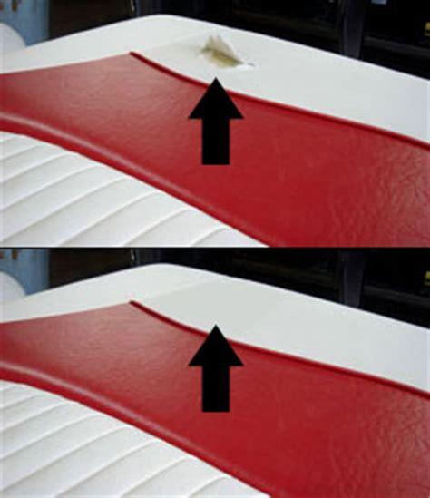 Boat Seat Vinyl Repair Tape by How To Repair Car Seat How To Repair Truck Seat