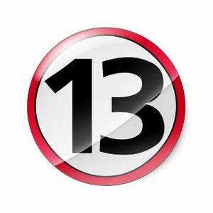 Number 13 Stickers | Zazzle