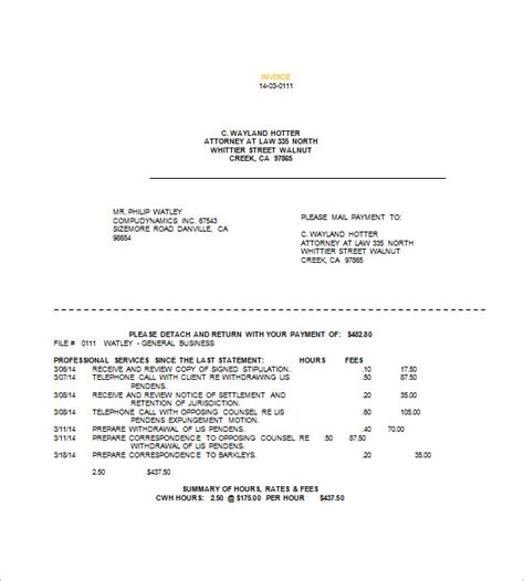 increasing   attorney invoice template making  tips