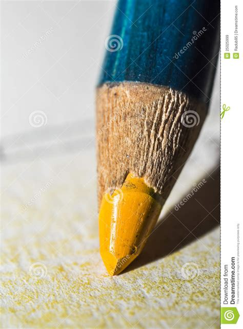 yellow crayon royalty  stock images image