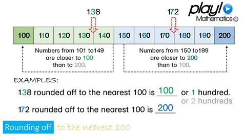 Play Maths Rounding Off To The Nearest 100 (3digit Numbers) Youtube