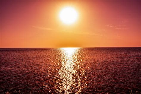 Wallpaper 4k Desktop by Wallpaper Sunset Reflections Horizon Sea Hd 4k