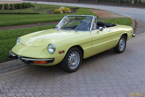 Alfa Romeo Spider 1974 by 1974 Alfa Romeo Spider Veloce Sold Vantage Sports