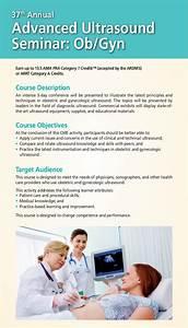 37th Annual Advanced Ultrasound Seminar  Ob  Gyn